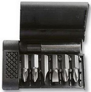 """Набор бит 1/4"""" крестовых PH, шлицевых SL + держатель магнитный (пластиковый бокс) 7 предметов SPARTA 113945,"""