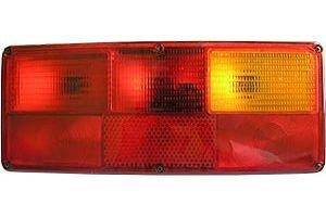 Фонарь задний левый (24V, прямоугольный, желто-красный) АВТОТОРГ 0121 LSK ж/к, 0121LSK/L ж/к
