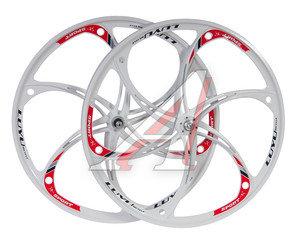 """Колесо велосипедное 26"""" литое под дисковые тормоза комплект переднее+заднее (обод,втулка,эксцентрик) ТИП2, 4680329025869"""