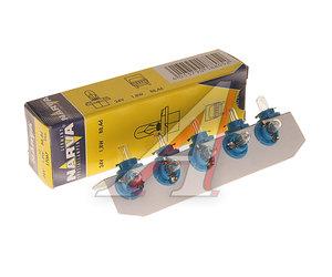 Лампа 24V 1.8W BAX с голубым патроном NARVA 17067, N-17067
