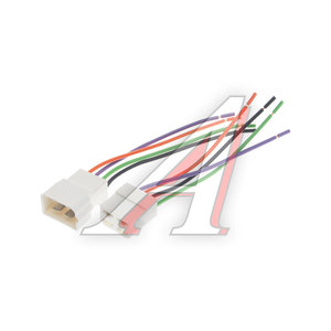 Разъем соединительный 6.3мм 4-клеммный (м+п) в сборе с проводами АЭНК КЛ066, 9007