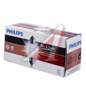 Лампа 24V C10W SV8.5-8 43мм двухцокольная PHILIPS 13866CP, P-13866