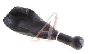 Ручка на рычаг КПП ВАЗ-2104-07 черная с чехлом СФЕРА (кожзам) АВТОБРА АвтоБра 2118-Ч, 2103-1703088