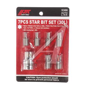 """Набор бит 1/2"""" TORX Т25-55 7 предметов JTC JTC-5366,"""
