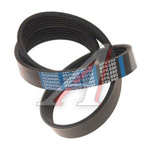 Ремень приводной поликлиновой 6PK890 ВАЗ-1118 генератора DONGIL 6PK890, 11180-1041020-00