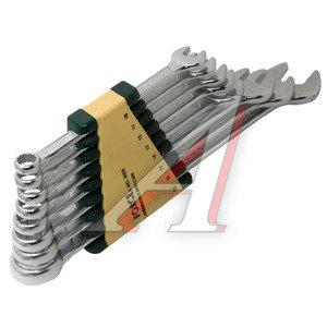 Набор ключей комбинированных 10-22мм 8 предметов в холдере изгиб 15град. FORCE F-5086,
