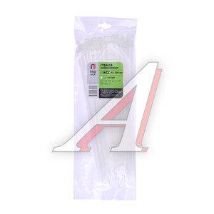 Хомут-стяжка 300х5.0 пластик белый (100шт.) FORTISFLEX 1005300, 49404,