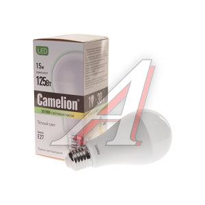 Лампа светодиодная E27 A60 15W (120W) теплый CAMELION Camelion LED15-A65/830/E27, 12196