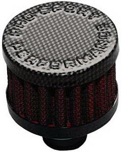 Фильтр вентиляции картерных газов d=25 PRO SPORT красный карбон RS-01124