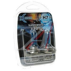 Лампа H7 12V 55W Super White блистер (2шт.) XENITE XENITE H7, 1007046, АКГ 12-55 (Н7)