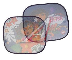 """Шторка автомобильная для боковых стекол 44х36см на присоске """"Дора-следопыт"""" 2шт. DISNEY DESAA010"""