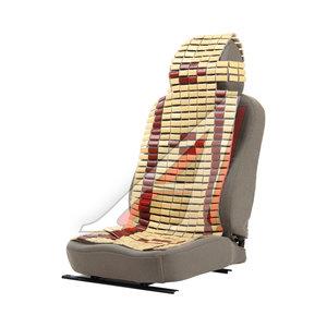 Накидка на сиденье массажная бамбуковая черная плоские пластины NOVA BRIGHT 44178 NovaBright, NB-44178