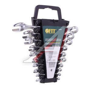 Набор ключей комбинированных 6-22мм 10 предметов в холдере изгиб 15град. FIT FIT-63443, 63443