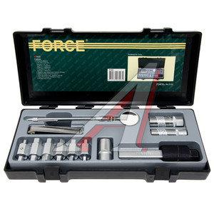 Набор инструментов для замены масла и диагностики профессиональный 12 предметов FORCE F-5122