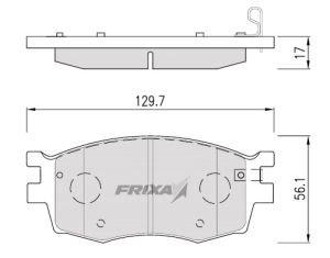 Колодки тормозные KIA Rio (05-) передние (4шт.) HANKOOK FRIXA FPK01N, 58101-1GA00
