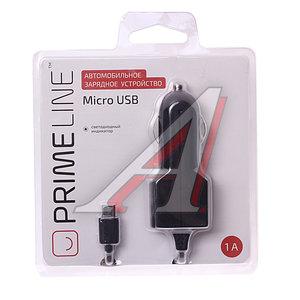 Устройство зарядное micro USB 1A черный PRIME LINE 2202