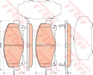 Колодки тормозные HONDA Accord 9 (2.0/2.4) (АКПП) (08-) передние (4шт.) TRW GDB3477, 45022-TL0-G51/45022-TL0-G50