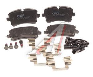 Колодки тормозные AUDI A8 (09-) задние (4шт.) TRW GDB1866, 4H0698451A