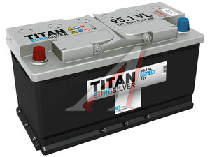 Аккумулятор ТИТАН Euro Silver 95А/ч 6СТ95, 80891