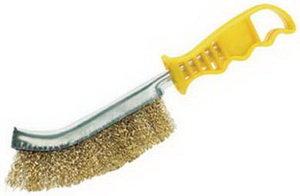 Щетка металлическая с пластмассовой ручкой SPARTA 748505
