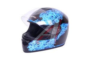 Шлем мото (интеграл) MICHIRU синий огонь MI 136 M, 4650066000979