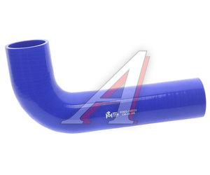 Патрубок МАЗ радиатора угловой синий силикон (L=280х130мм,d=60) 533632-1303251