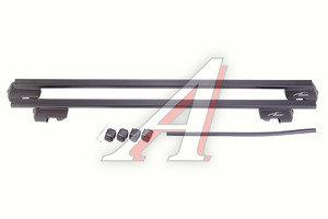 Багажник поперечины для рейлингов L=1200мм прямоугольный сталь комплект LUX 691622