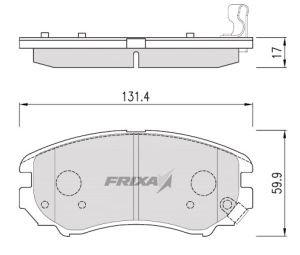 Колодки тормозные HYUNDAI Elantra (06-) передние (4шт.) HANKOOK FRIXA FPH21, 58101-2HA10