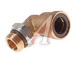 Соединитель трубки ПВХ,полиамид d=12мм (наружная резьба) М16х1.5 угольник латунь CAMOZZI 9502 12-M16X1,5