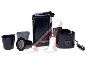 Чайник автомобильный 12V 120Вт 0.5л черный (2 чашки, сито) ALCA AL-54212, 542120