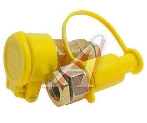 Головка соединительная тормозной системы прицепа 16мм (грузовой автомобиль) желтая комплект FER-RO 100-3521010/11, АТ-372ж,