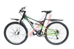 """Велосипед 26"""" 21-ск. двухподвесный дисковые тормоза черный HAMMER TOTEM T15B109 C, T15B109"""
