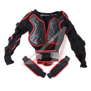 Куртка для мото защитная (черепаха) черно-красная M MICHIRU M MICHIRU, 4680329010285