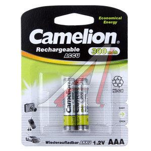 Батарейка AAA 1.2V аккумулятор Ni-MH 300mAh блистер 2шт. CAMELION C-30AAAKCбл