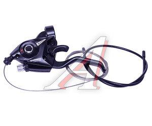Шифтер тормозной левый 3 скорости тросс +оплеткаTourney EF51 SHIMANO черный ESTEF51LSBL2P