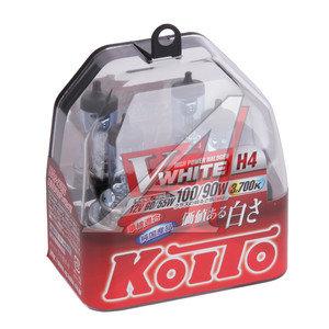 Лампа H4 12V 60/55W P43t-38 +100/90% Whitebeam бокс (2шт.) KOITO P0746W