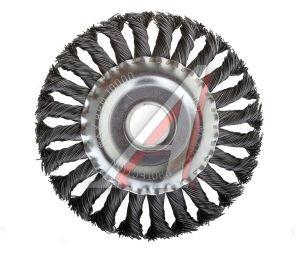Кордщетка для УШМ дисковая 125мм крученая сталь 22мм MATRIX 74632