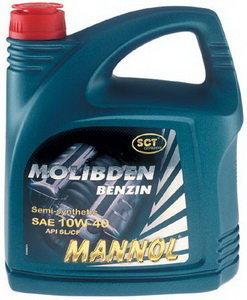 Масло моторное MOLIBDEN BENZIN п/синт.1л MANNOL MANNOL SAE10W40, 1120