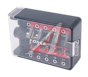 """Набор бит 1/4"""" TORX T7-40 с держателем магнитным в боксе 11 предметов FORCE F-21113"""