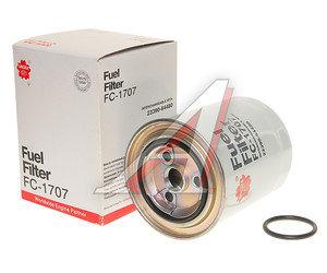 Фильтр топливный HINO SAKURA FC1707, KC135D/FF5412/P550385, 186105420/2339064480/4403318/233907600171