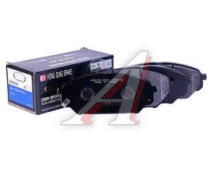 Колодки тормозные KIA Sportage (12-) HYUNDAI ix55 передние (4шт.) HSB HP0039, GDB3527/58101-3JA00/58101-3JA50, 58101-3JA00