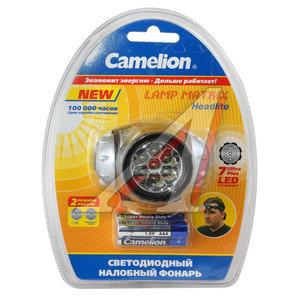 Фонарь налобный 7светодиодов 4см 2 режима 4.5V 3хLR03 CAMELION C-5318-7