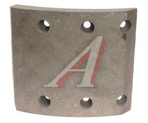Накладка тормозной колодки КАМАЗ (13-) сверленая б/азб Wшир.=140мм;Lдуги=154мм;hтолщ.=14/19мм ТИИР 53205-3501105-51 сверленая, 53205-3501105-51(оригинал), 53205-3501105-51