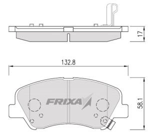 Колодки тормозные HYUNDAI Solaris передние (4шт.) HANKOOK FRIXA FPH27, GDB3548, 58101-4LA00