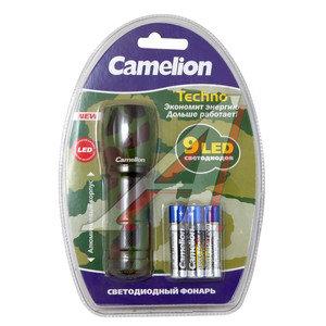 Фонарь 9 светодиодов (LED CAMOUFLAGE) 10см 4.5V 3хLR03 CAMELION C-5107-9ML