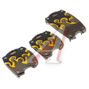 Накладка педали для МКПП комплект 3шт. черно-желтый TYPE R GT-38065BLK/Y,