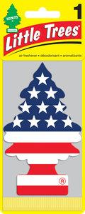 Ароматизатор подвесной пластина (американский флаг) фигура Елочка CAR FRESHNER CF-10945, СА-10945
