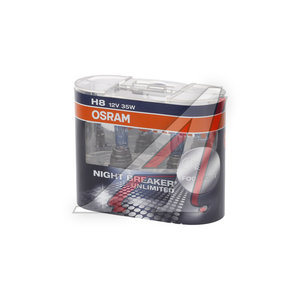 Лампа 12V H8 35W PGJ19-1 бокс (2шт.) Night Breaker Unlimited OSRAM 64212, O-64212NBU2(EURO)