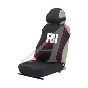"""Авточехлы (майка) на передние сиденья велюр """"FBI"""" черные (2 предм.) Hotprint H&R 21153 H&R"""