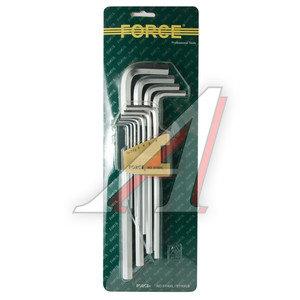 Набор ключей шестигранных 1.5-12мм супер удлиненных 11 предметов FORCE F-5116XL